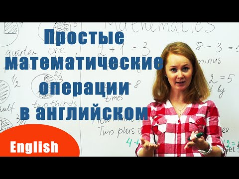 Простые математические операции на английском языке