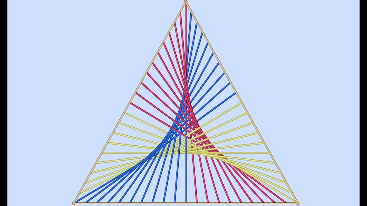 Straight Line Designs In Art : Triangle parabolic curves straight lines youtube