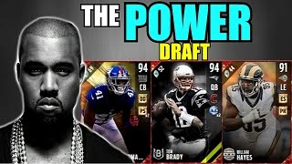 THE POWER DRAFT! HIGHEST POWER MOVE IN EVERY ROUND! Madden 17 Draft Champions