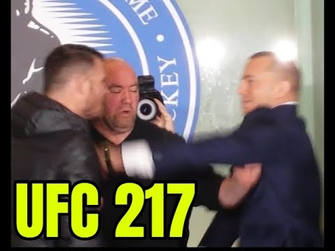 GSP Michael Bisping staredown gets physical