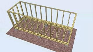 видео Как построить сарай для дачи своими руками – 4 этапа строительства хозблока