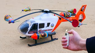 Experiment: Toy Helicopter vs Fireworks !
