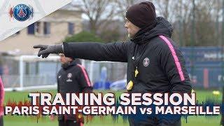 TRAINING SESSION : PARIS SAINT-GERMAIN vs OLYMPIQUE DE MARSEILLE