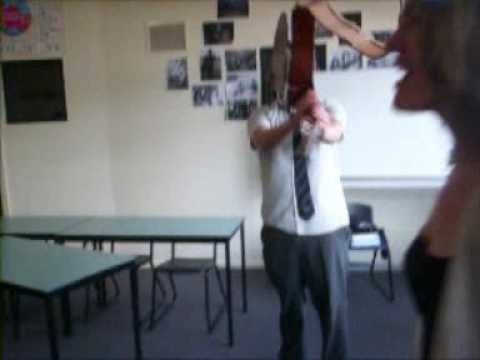 YEAR 12'S SMASH A GUITAR ON THEIR LAST DAY OF SCHOOL