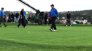 Peyton Manning Playing The Green On Pebble Beach