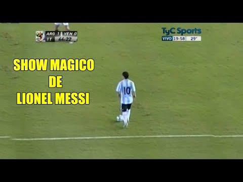 El primer partido de Messi con la 10 de la seleccion Argentina (2009)