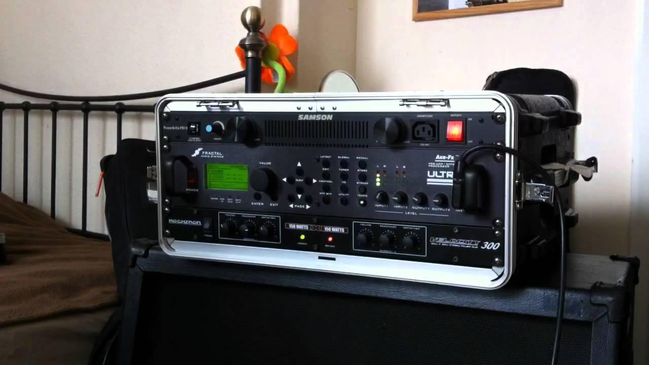 100 Amp Disconnect >> Axe-Fx Ultra, Rocktron Velocity 300, Vintage 30's 4x12 - YouTube
