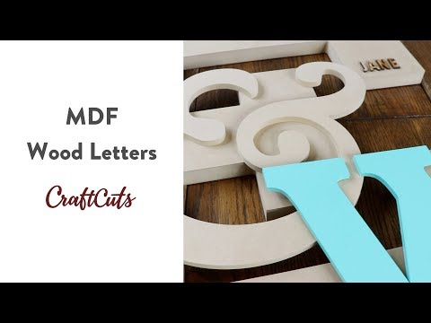 MDF WOOD LETTERS - Product Video | Craftcuts.com