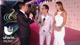 Marc Anthony y Shannon de Lima impresionaron en la alfombra de Premio lo Nuestro