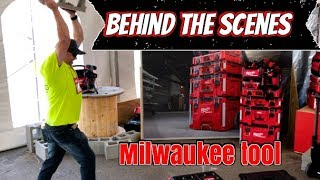 Behind the Scenes Milwaukee Tools New Concrete tools, Power tools, Sawzall Blades Construction tools