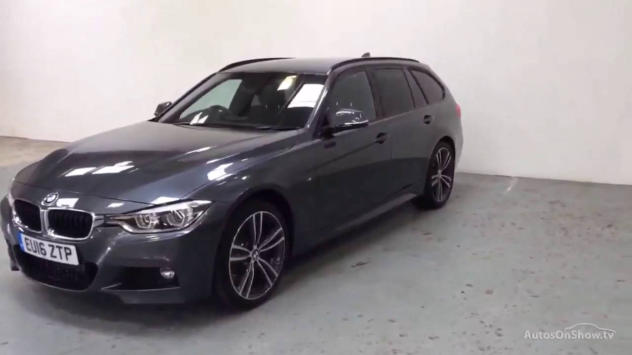 bmw 3 series 320d xdrive m sport touring grey 2016 youtube. Black Bedroom Furniture Sets. Home Design Ideas
