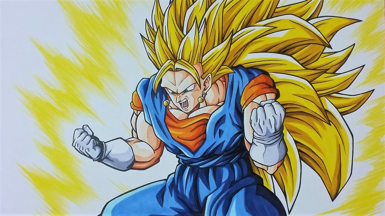 Drawing Vegito Ssj3 Super Saiyan 3 Tolgart Youtube