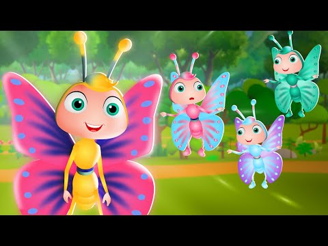 Titli udi Bus pe Chadi Hindi Nursery Rhymes for Kids तितली उडी   3D Animated Hindi Balgeet