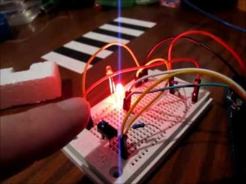 Tcrt5000 Ir Proximity Sensor Arduino Demo Youtube