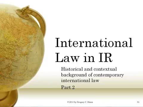 International Law in IR (POLS4501 5501) | International Relation Part 01