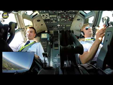 Pure Professionalism under CLASSIC B737-300 Eyebrow Windows: Air Baltic Riga Takeoff! [AirClips]