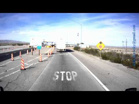 Port of Entry, California, I-40 West, near Needles (mm 149), DOT Scale, Weigh Station LKW Waage USA