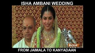 Jaimala to Kanyadaan: Have a look at Isha Ambani's wedding ceremony