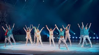 """Шоу под дождём """"Эрос"""" в амфитеатре Молодечно 1 часть (FHD)"""