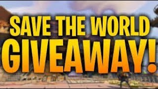 Fortnite Save The World Giveaway!!!!!! 130 God Rolls For Free!!!!