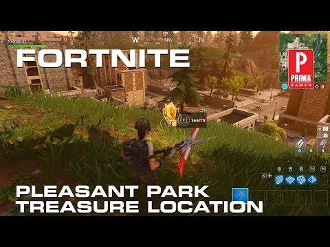 Fortnite - Pleasant Park Treasure Map Location
