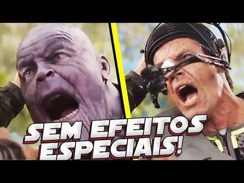 VINGADORES GUERRA INFINITA SEM EFEITOS ESPECIAIS! HILÁRIO!