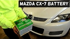 MAZDA CX-7 CX7 BATTERY REPLACEMENT REMOVAL 2007 2008 2009 2010 2011 2012