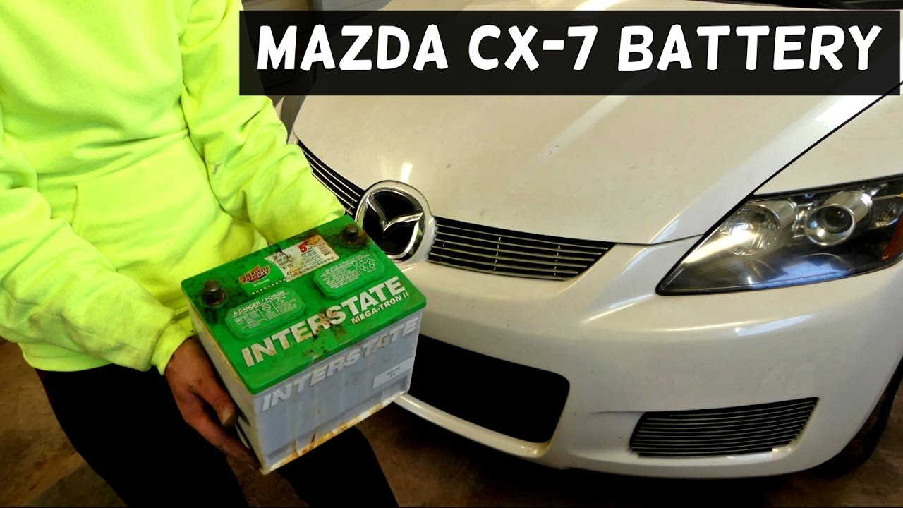 mazda cx-7 cx7 battery replacement removal 2007 2008 2009 2010