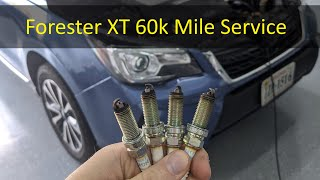 homepage tile video photo for 2017 Forester XT Spark Plug Change and 60k Mile Service
