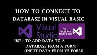 How to connect to a database in visual basic 10/12/17 | Tutorial  2017 |