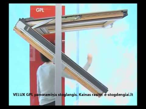 stogo langas velux gpl panoraminis kaip veikia atsidaro. Black Bedroom Furniture Sets. Home Design Ideas