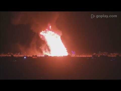 Burning Man 2016 - Full Temple Burn