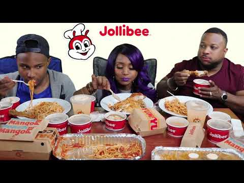 Jollibee Mukbang/Feast/Filipino Fast Food/feat. It'sDarius