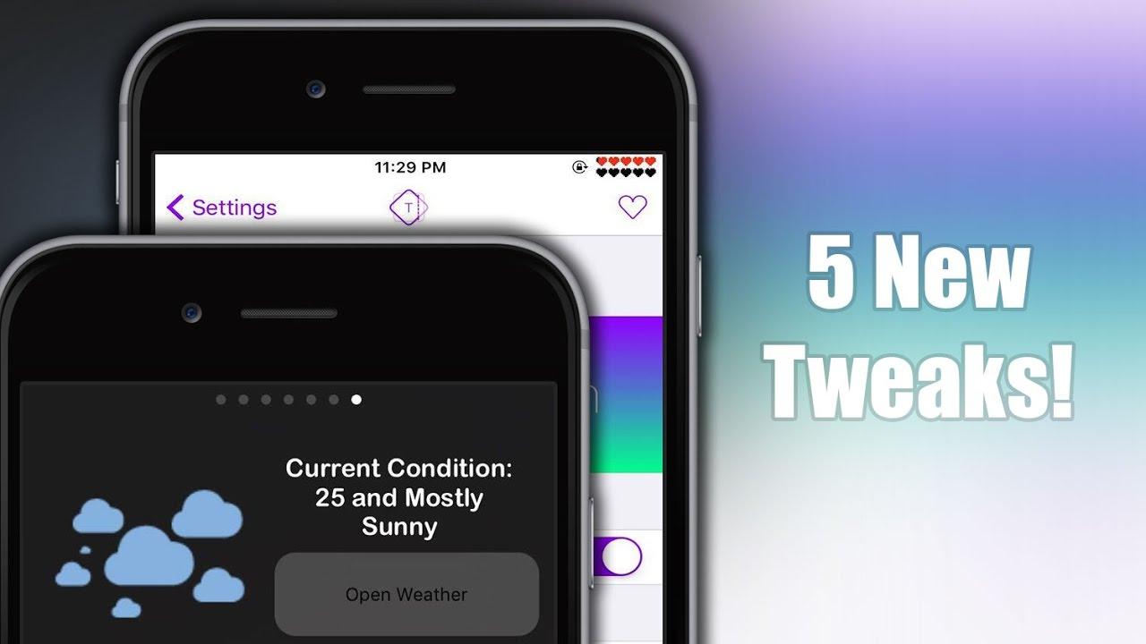 TOP 5 NEW cydia tweaks - iOS 9.3.3 #3