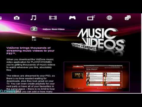 Vidzone for Playstation 3 (Music Videos)