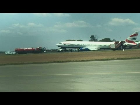 British Airways plane crash lands in Johannesburg