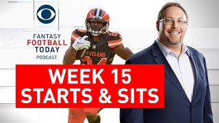 Week 15 FANTASY FOOTBALL STARTS and SITS | Full Episode | Fantasy Football Today