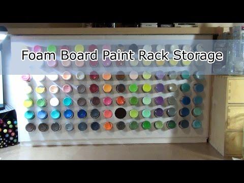 DIY Paint Rack Storage  -  Foam Board