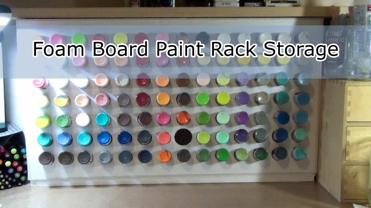 DIY Paint Rack Storage - Foam Board - YouTube