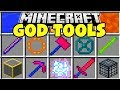 Minecraft GOD TOOLS MOD | BECOME A MINECRAFT GOD AND DEFEAT ANY MOB!!