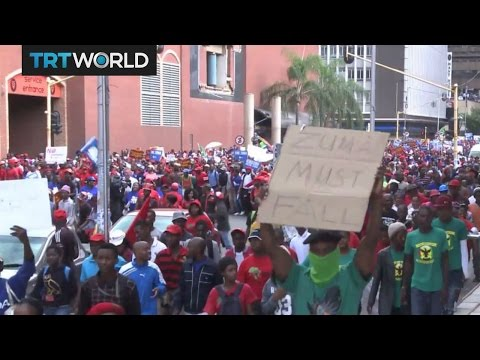 South Africa Protests: Demonstrators call for president's removal
