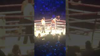 Logan Paul taunts KSI in the ring during round 2