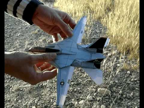 Papercraft F-14 Paper Airplane 3D model