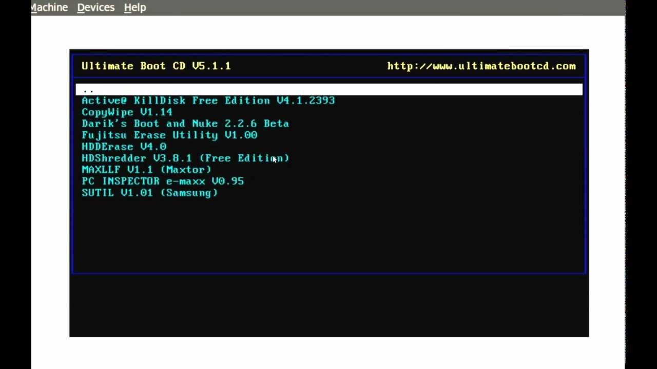 ultimate boot cd 5.1.1 iso