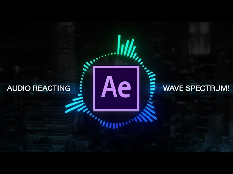 How to create Reactive Audio Spectrum Waveform Effects in Adobe After Effects (CC 2017 Tutorial)