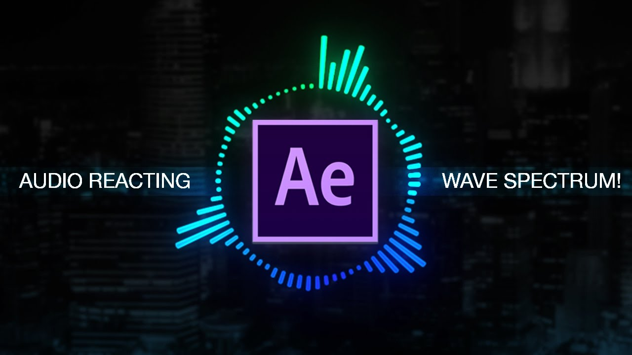 How To Create Reactive Audio Spectrum Waveform Effects In Adobe After Effects Tutorial Youtube