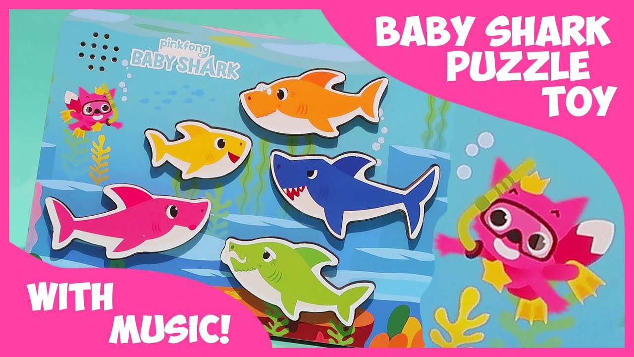 BABY SHARK Puzzle Toy for Kids with Music!!
