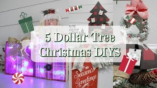 5 DOLLAR TREE CHRISTMAS DECOR DIYS | CHRISTMAS DECOR IDEAS