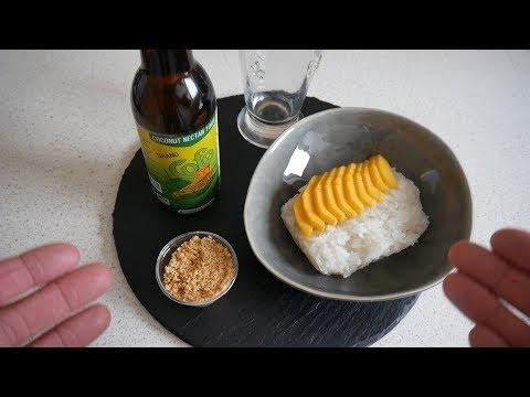 Thai Food Taste Test | Thai Sticky Rice with Mango & Coconut Nectar | Food & Drink
