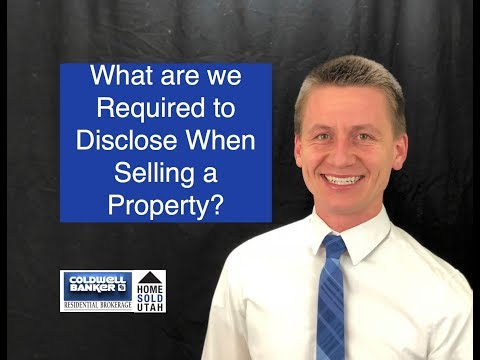 What are we Required to Disclose When Selling?